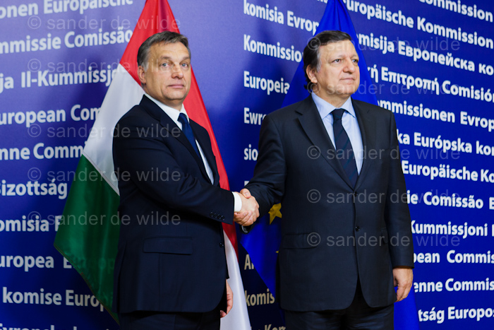 Mr José Manuel Barroso, President of the European Commission receives