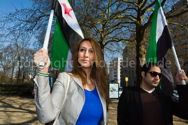 amnesty international protests at Syrian embassy Brussels