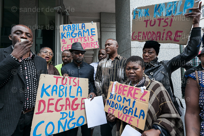 Rally to free Eugene Diomi Ndongala, in Brussels