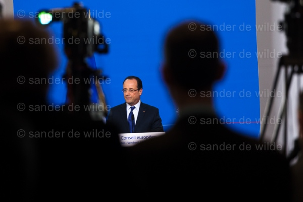 Francois Hollande after European Summit